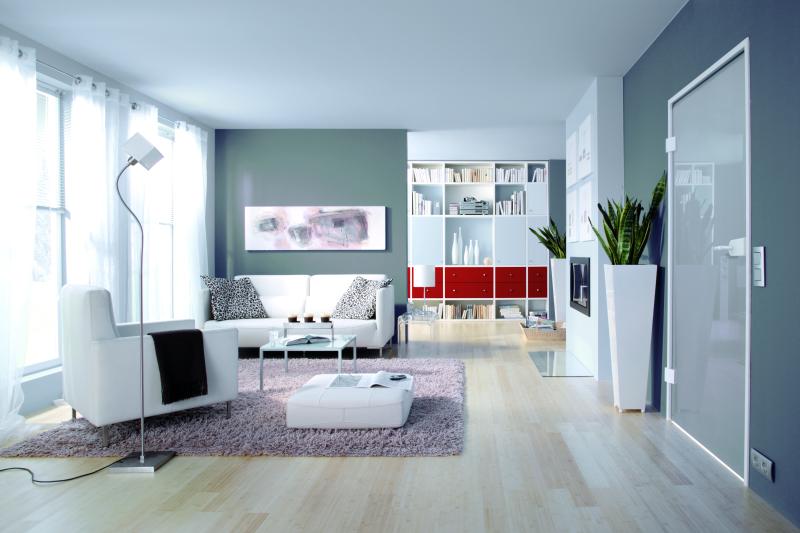 glas-schiebetür nach maß fürs wohnzimmer - glaserei hyna in ... - Wohnzimmer Mit Blau